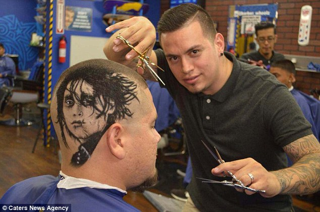 Cutting edge: The face of film character Edward Scissor Hands