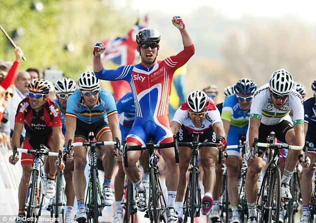 Champion: Cavendish world the road race world title in Copenhagen, Denmark, in 2011