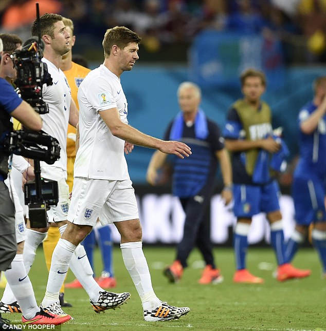 Walking away: Gerrard has announced his retirement from international football after 14 years