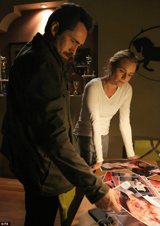 Cop procedural: Diane and co-star Demián Bichir currently head up the second season of The Bridge, airing Wednesdays through October 1 on FX