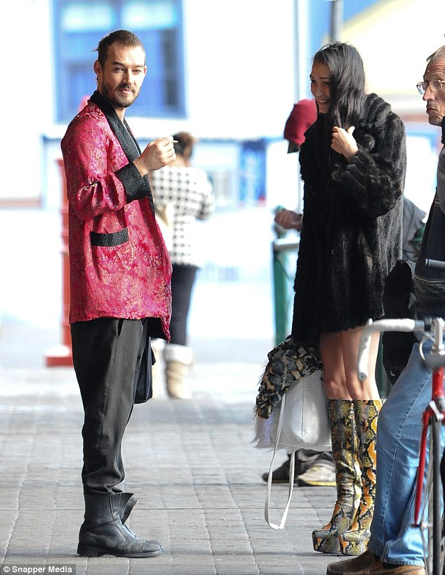 Rare sighting! Daniel Johns was spotted out and about in Sydney with girlfriend Estelita Huijer on Thursday
