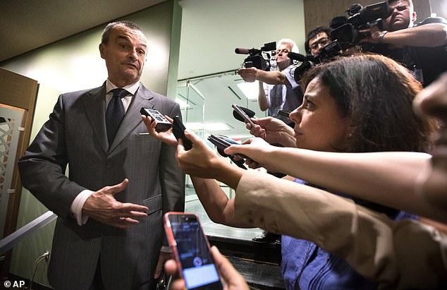 Social media: French U.N. Ambassador Gérard Araud speaks to the media before the emergency meeting. Araud tweeted that the meeting is being held at the request of council member Jordan