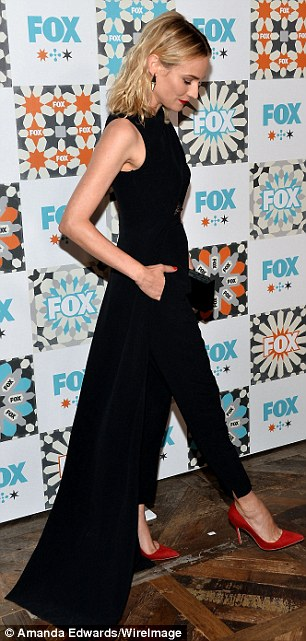 Pockets too? The 38-year-old actress - who does not have a stylist - rocked red pumps with her asymmetrical creation featuring a lace cut-out