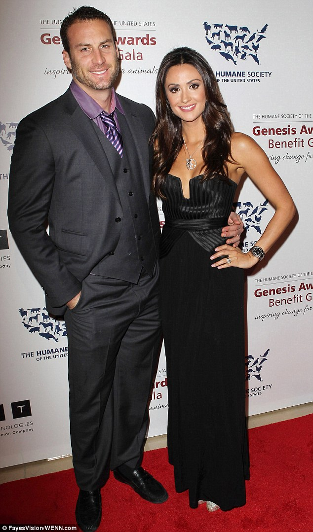 Tragic: Katie Cleary's estranged husband Andrew Stern, pictured together in March 2013, killed himself in June