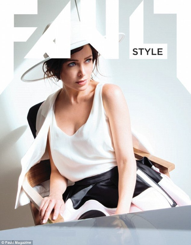 Style queen: The Australian beauty heads up the style section of Fault magazine wearing a summer hat and coordinating skirt suit