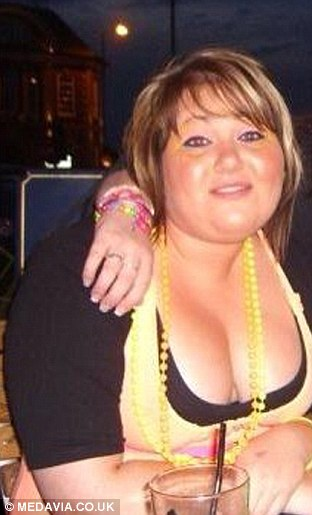 Holly before losing weight
