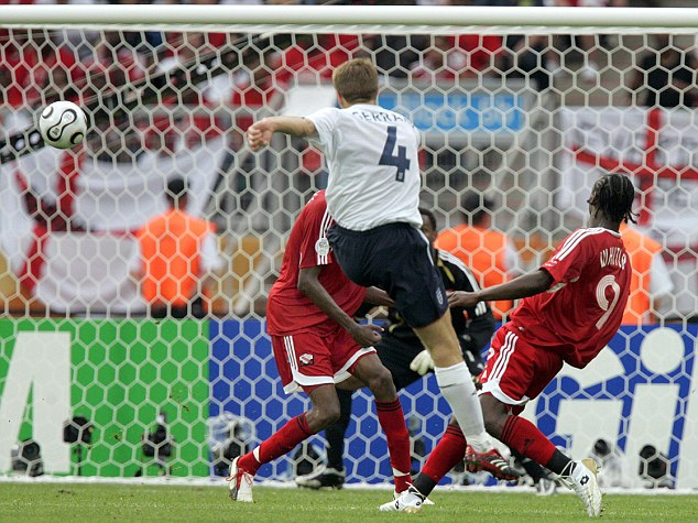Good times: Gerrard's 21 goals for his country put him 20th on the list of England all-time top goalscorers