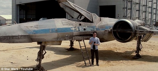 Here's more: By the end of the clip, almost the entire X-Wing could be seen; the plane looked like it had seen a lot of action as it was tattered