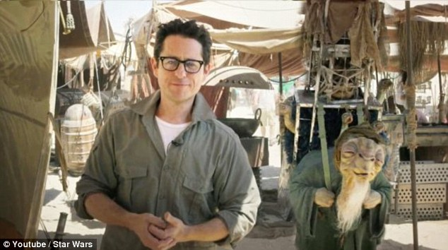 An earlier sneak peek: Abrams on the Star Wars set in Abu Dhabi when he announced the contest