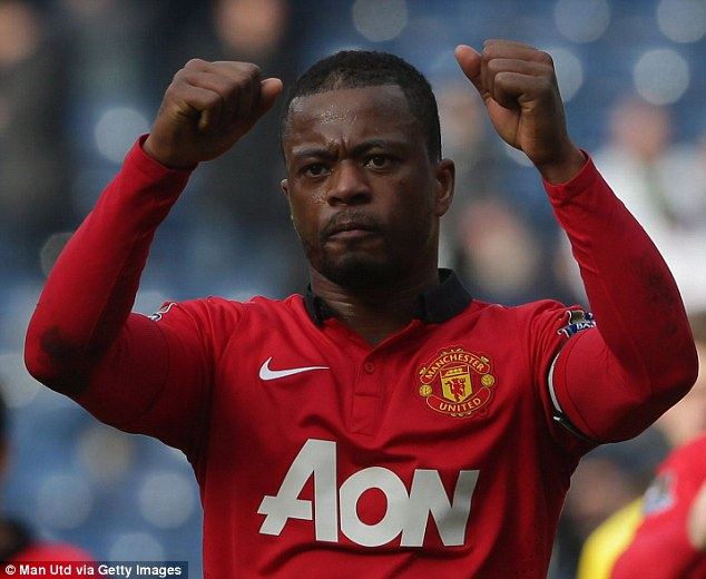 Fans' favourite: Patrice Evra was a popular figure among Manchester United supporters