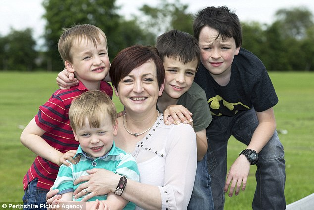 Drama teacher and mother-of-four Emma Stothers, 37, from St Andrews in Fife has a new hearing aid
