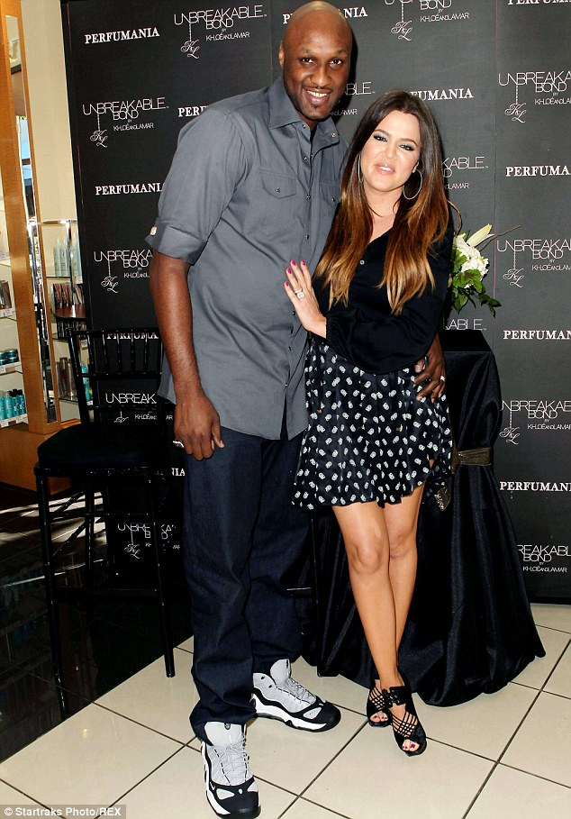Infidelity: After filing for divorce over six months ago, Lamar's ex-Khloe Kardashian - seen together at the Unbreakable Bond perfume photocall event in June 2012 - finally admitted that the former NBA star had cheated on her during their marriage