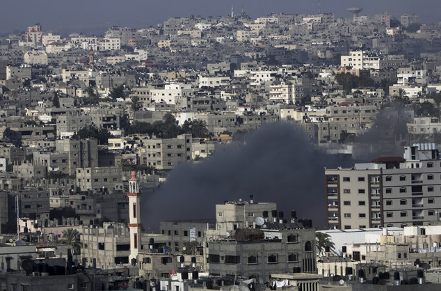 Gaza City came under heavy tank fire on Sunday as Israel widened its ground offensive against Hamas, causing hundreds of panicked residents to flee