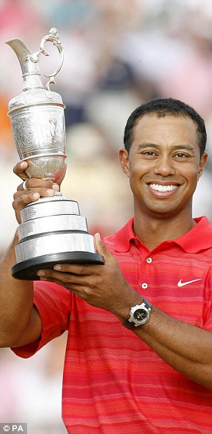 Major mentality: McIlroy has same determination for success as Jack Nicklaus and Tiger Woods (pictured)