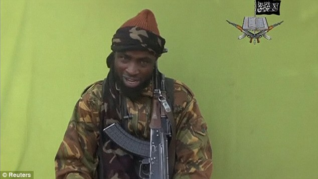 The group pointed to the Lord's Resistance Army, al-Shabab and Boko Haram as groups known to use wildlife poaching to fund terrorist attacks. Pictured is the leader of Boko Haram, Abubakar Sheku