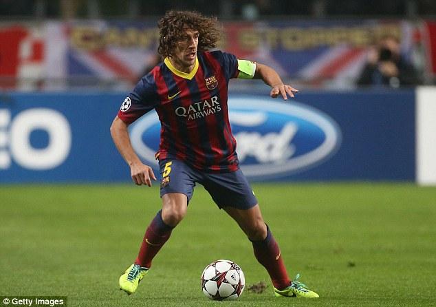 Stepping aside: Veteran defender Carles Puyol retired at the end of last season