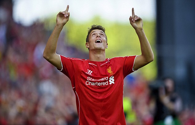 Things are looking up: Kristoffer Peterson has scored in both of Liverpool's pre-season fixtures so far