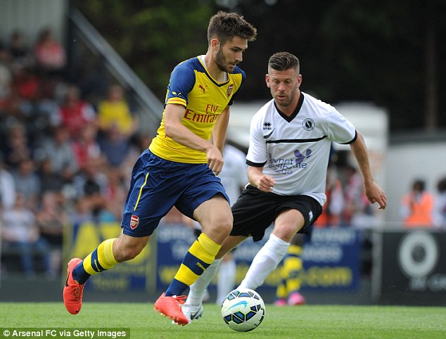 Silky Spaniard: Playmaker Jon Toral (left) scored five times in seven appearances for Arsenal's under 18s