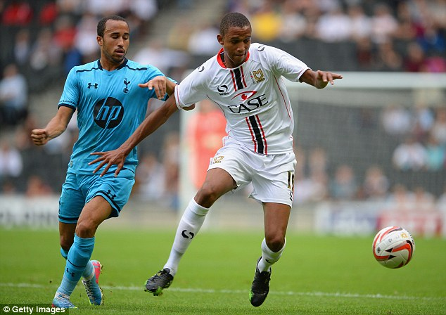 High praise: Brendan Galloway (right) has been compared to former England defender Rio Ferdinand