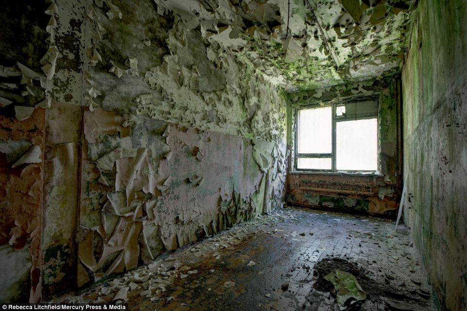 Ms Litchfield said while she and her companions managed to stay hidden for most of the trip, their good fortune ran out when they were joined by military at a secret radar installation. Luckily, after some negotiations the photographer was allowed to continue