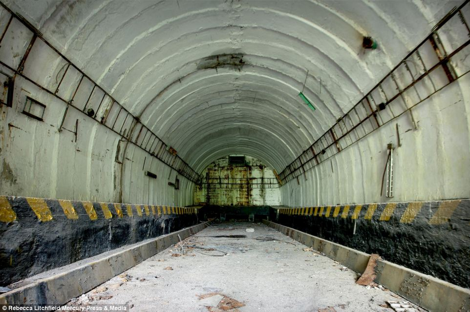 An abandoned military rocket base in Slovakia has been allowed to fall into disrepair, with rubble and waste lying on the ground