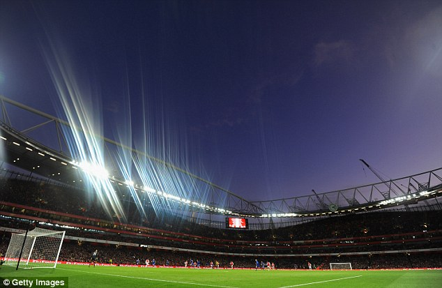 More familiar: Arsenal take on Everton as the stadium's more typical residents