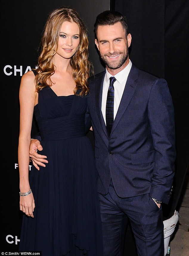Her turn: Behati performed a love song for her groom during the reception