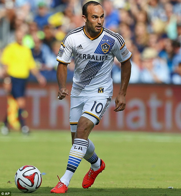 Eager beaver: Landon Donovan says he is excited to play against Manchester United on Thursday