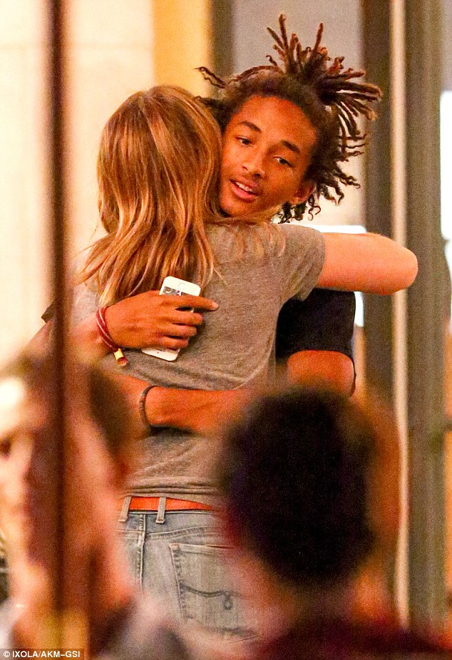 Frequent visits: Jaden, seen embracing a female friend July 22, again met Kylie for dinner on July 15 in her suburban hometown of Calabasas, 22 miles north of Los Angeles