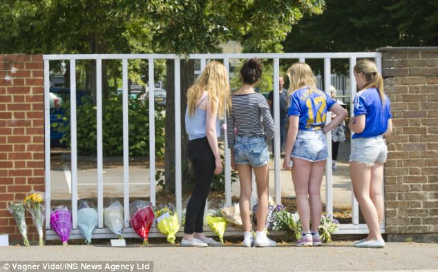 More than 100 friends visited Great Marlow School today to pay tribute to Kyrece, with many leaving flowers