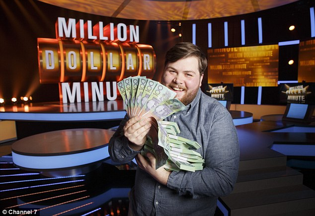After seeing himself on the TV screen when he won $212,000 on the Million Dollar Minute show last night Jonathan signed up to a boot camp in Thailand for three months for a complete transformation