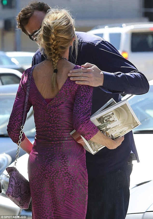 Affectionate: The Full House star gave Melanie a good-bye kiss on the cheek