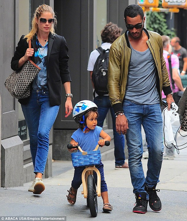 Plus one: The Dutch beauty is married to DJ Sunnery James and the couple already have a three-year-old son Phyllon Joy Gorré
