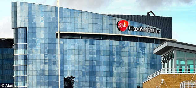 Drop: GSK issued a warning after a 22 per cent decline in half-year operating profits.