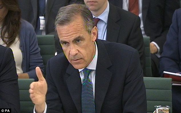 Rate serve: Bank of England governor Mark Carney suggested that an early rate rise was very unlikely today as he shifted the focus of interest rate policy on to pay growth