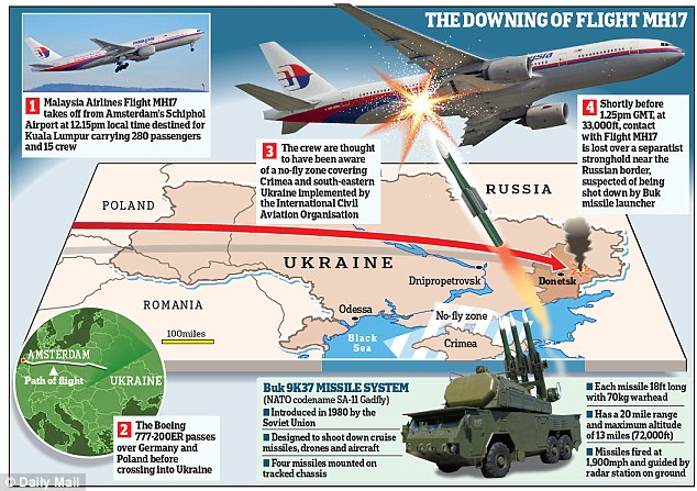 UK foreign secretary Philip Hammond said all the evidence currently available indicates that a surface-to-air missile destroyed the MH17 and was supplied by Russia