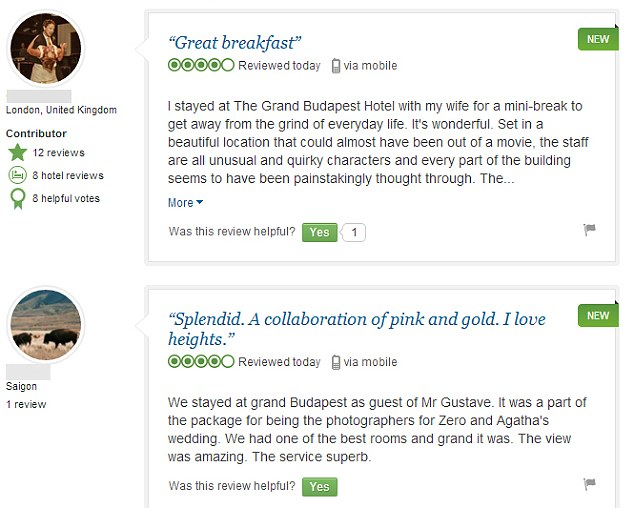 Rave reviews: The fictional hotel has received four- and five-star praise