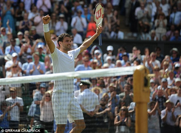 Victor: Dimitrov beat Murray in straight sets on Centre Court to end the Brit's Wimbledon defence