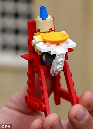 Cute: George as seen by Legoland Windsor model maker Marco Mirano