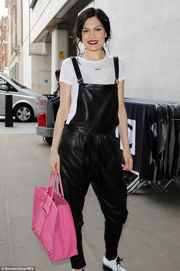 Namesake: Jessie wore a Jessie J necklace around her neck to give her look a girlie edge