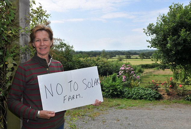 Sue Young has written an open letter to the people of Lingfield asking them to back her in her fight to oppose the plans by her husband Robert to erect the 55-acre solar farm on the family land