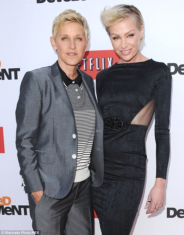 Proud wife! Ellen DeGeneres took to Twitter on Wednesday to brag about wife Portia de Rossi landing a coveted role in the upcoming fourth season of hit ABC series Scandal