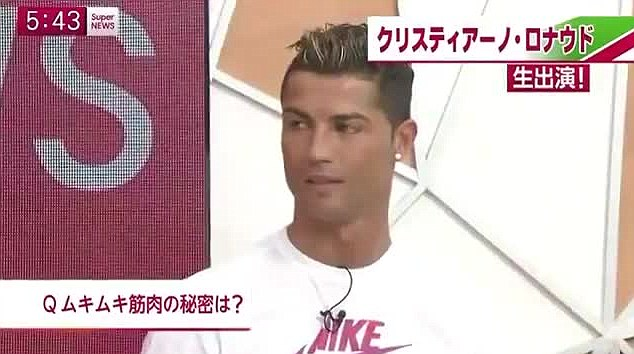 Confused: Cristiano Ronaldo appeared not to know how to react to what he had just witnessed