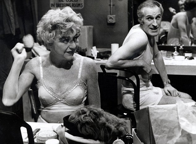 Dora as Lily Pepper, and Bruce Forsyth as George Pepper, in the television show Red Peppers