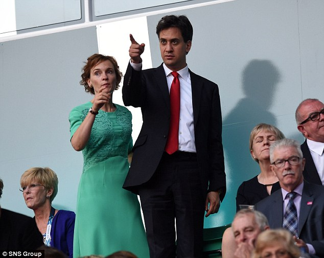 Mrs Miliband has vowed to join the 'barricades' to help her husband win next year's general election, insisting she is 'more than a dress'