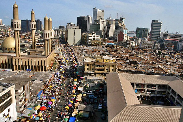 A Liberian man in his 40s is being tested for the deadly Ebola virus in Nigeria's commercial capital of Lagos (pictured)