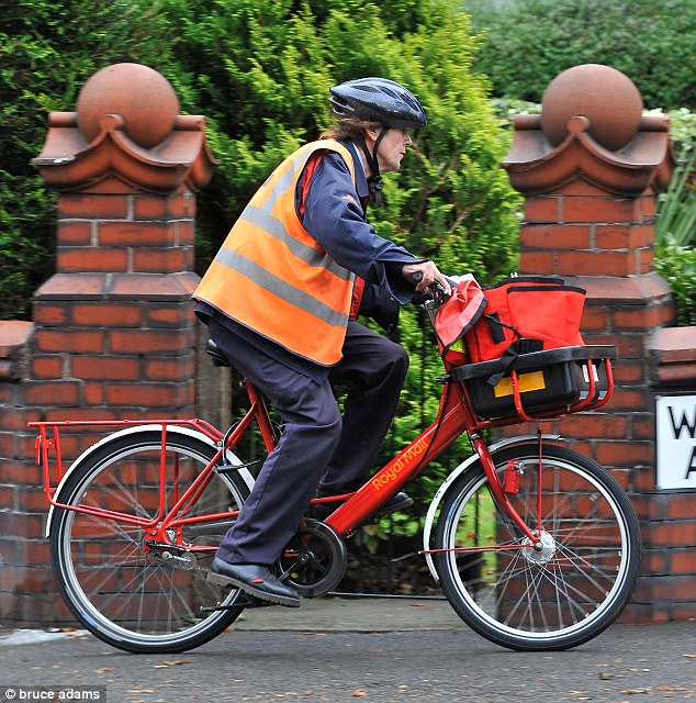 Speaking in Birmingham at Royal Mail's annual general meeting, company chairman Donald Brydon said 'bicycles are going to be a thing of the past', a decision which he described as 'sad' (file picture)