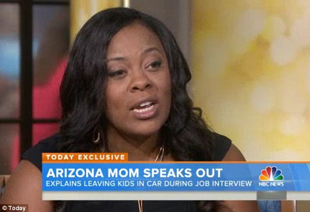 Made a difficult choice: Shanesa Taylor said that she left her children in a hot car in a 'moment of desperation' due to her dire financial straits