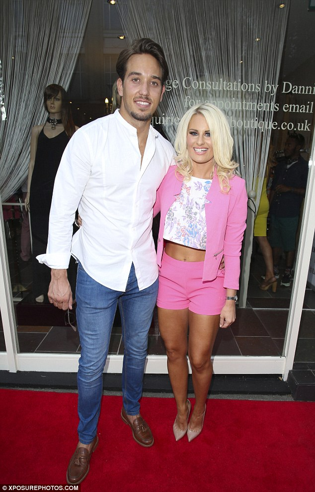 It's all going on: Meanwhile, Danielle Armstrong opened her fashion boutique in Essex with her man James Lock by her side