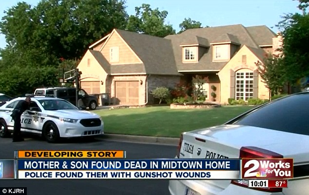 The mother and son were found dead in their suburban Tulsa home after police were called for a well-being check